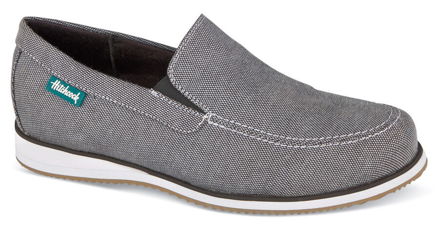 Grey Canvas Yoshi Slip-on