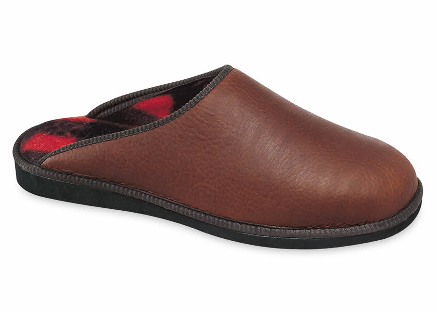Brown Backless Scuff Slipper