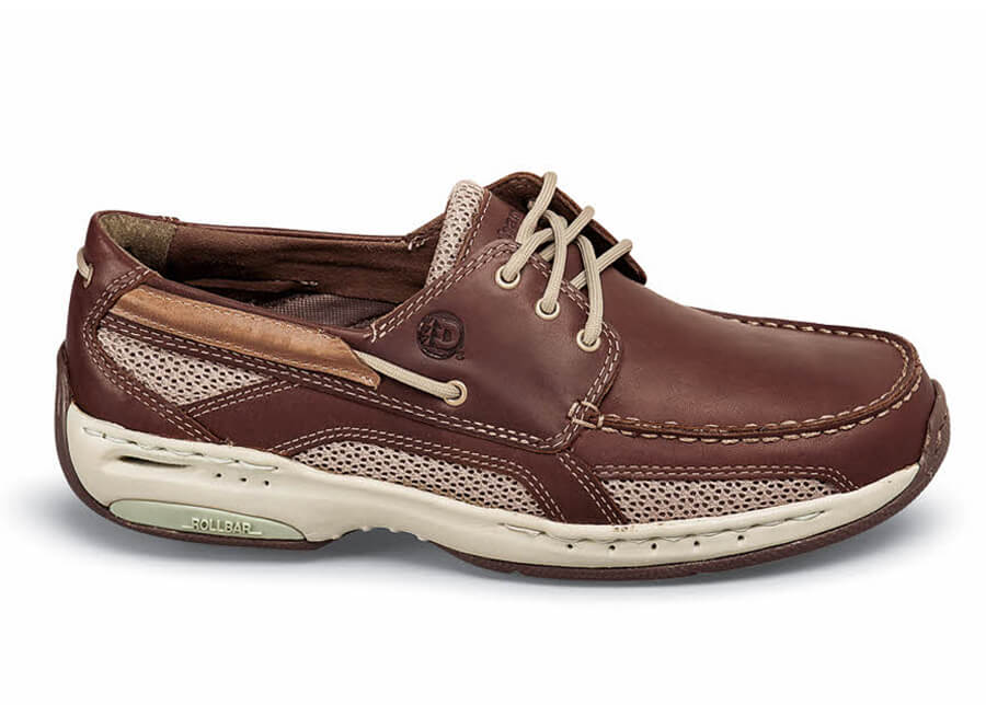 Brown 3-eyelet Boat Moccasin