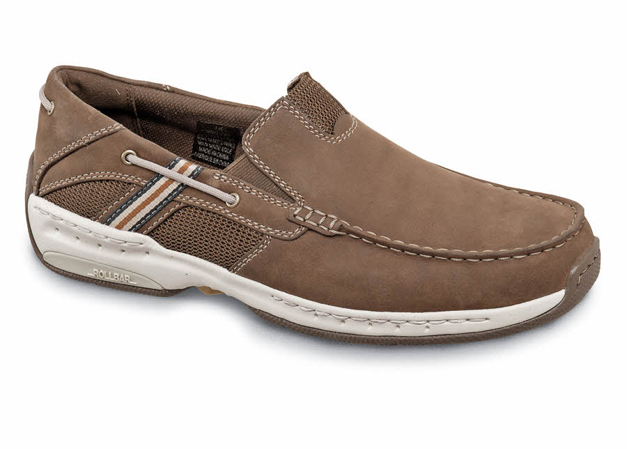 Brown Casual Boat Slip-on