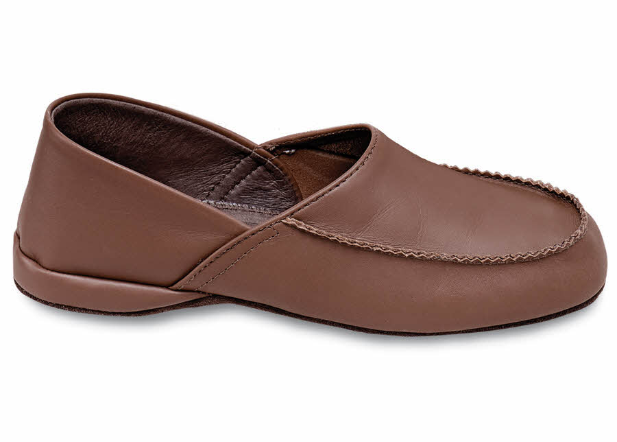 Wood Brown Soft Sole Slipper