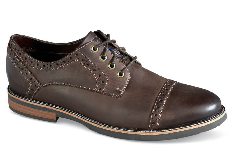 Brown Overland Cap Toe Oxford