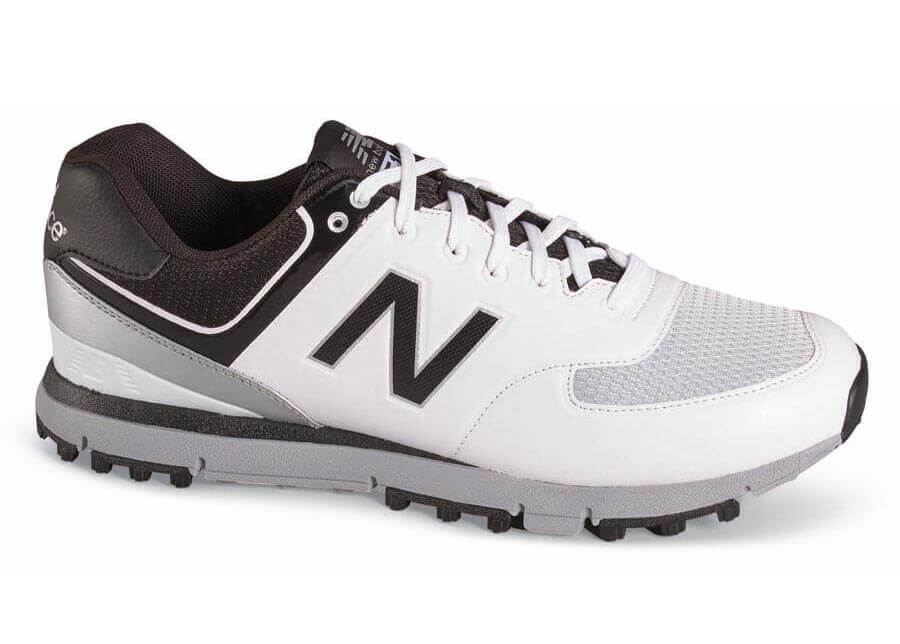 White/black Spikeless Golf Shoe