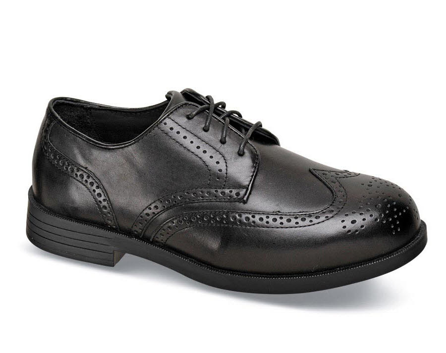Black Clayton Wing-Tip Oxford