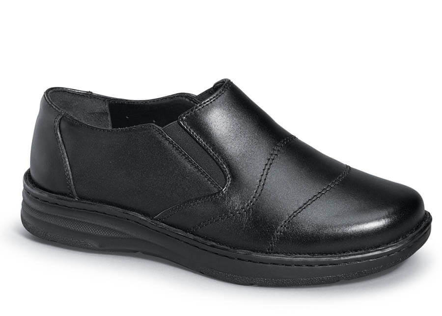 Black Leather Fairfield Slip-on