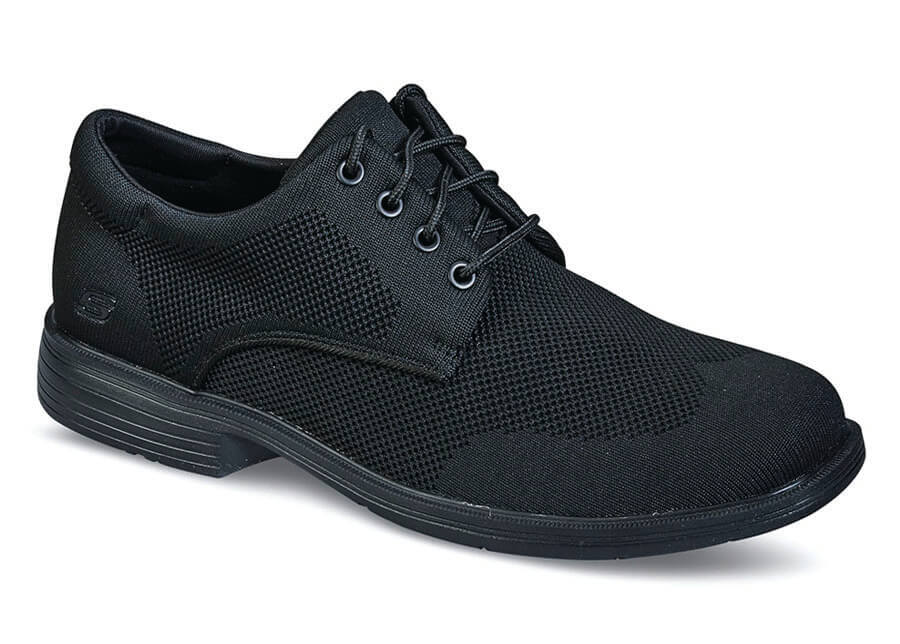 Black Knit Caswell Aleno Wingtip