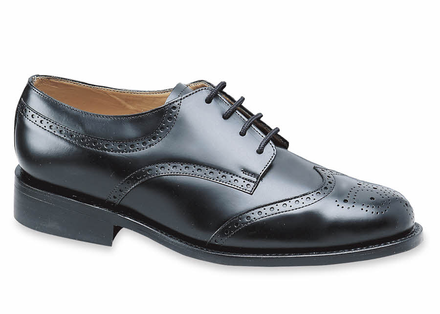 Black Windsor Wing-Tip Oxford