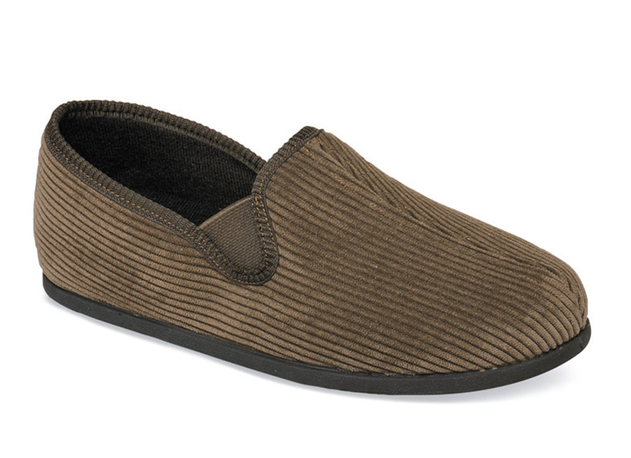 Brown Corduroy Slipper