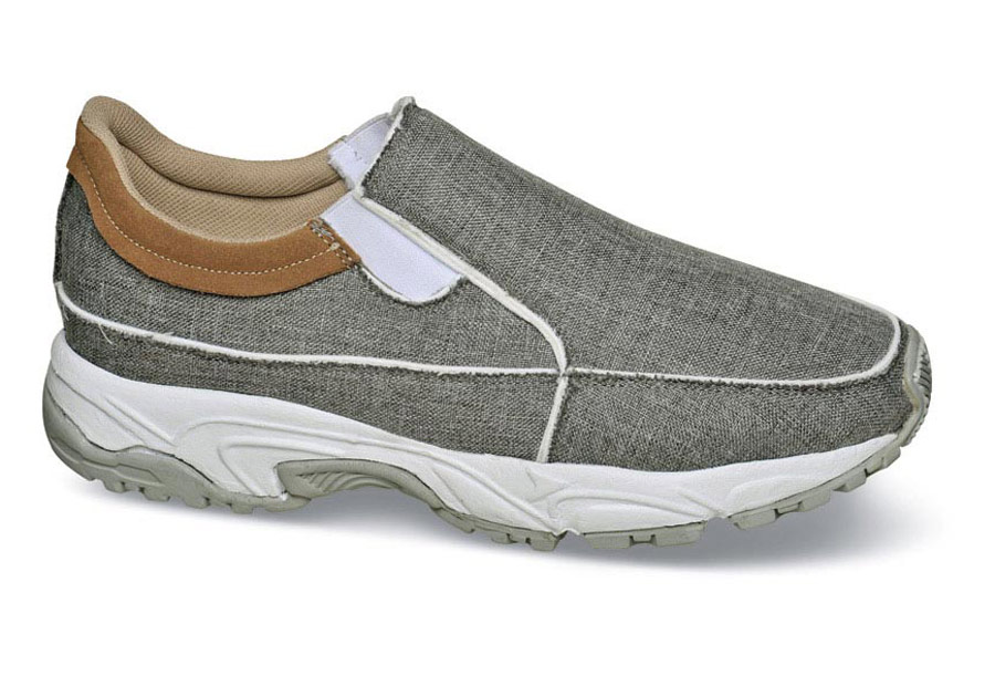 Grey Canvas Sport Slip-on