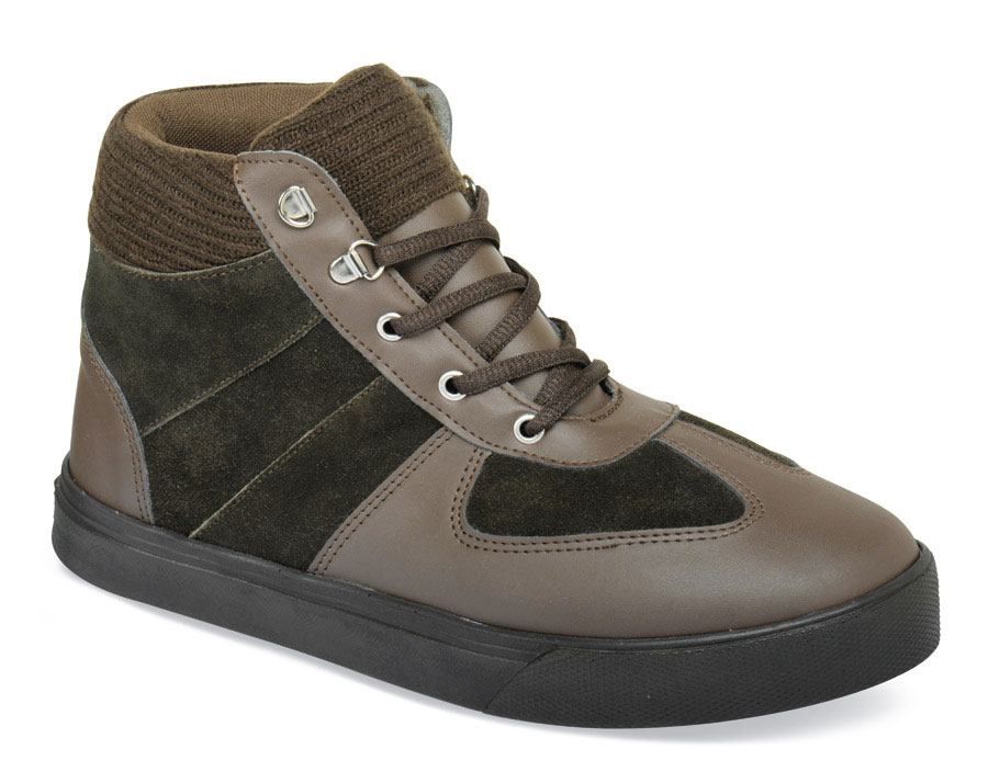 Brown Leather/Suede Hi-Top