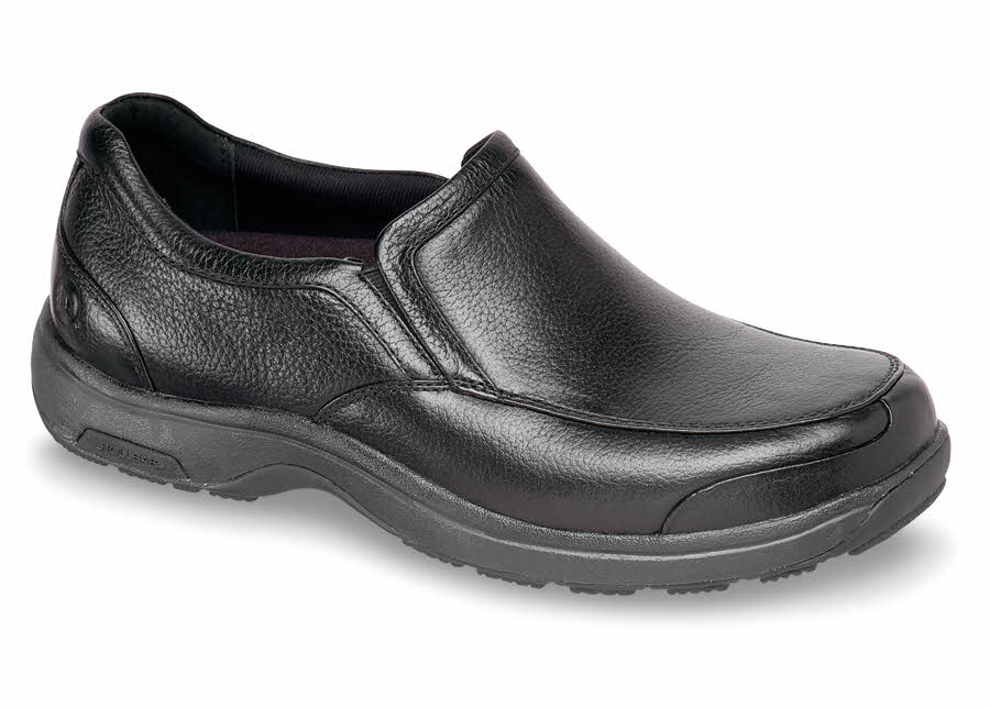 Black Waterproof Leather Slip-on