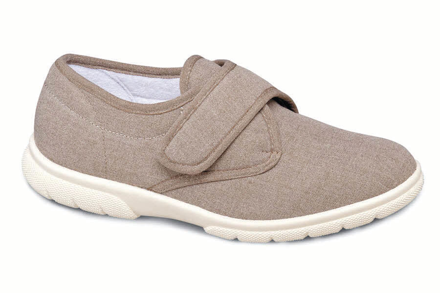Taupe Canvas Strap Casual