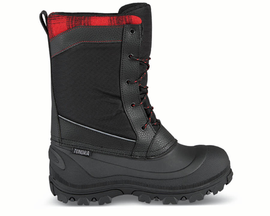 Black/red Kisco Winter Boot
