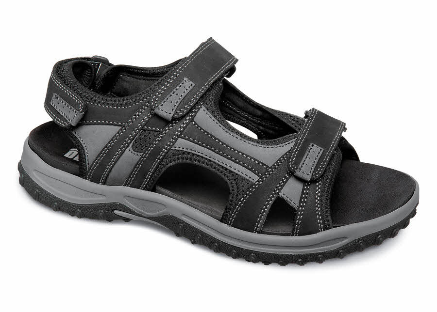 Black/Grey Warren Sandal