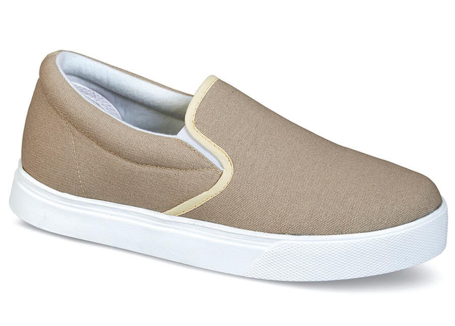 Tan Canvas Casual Slip-on