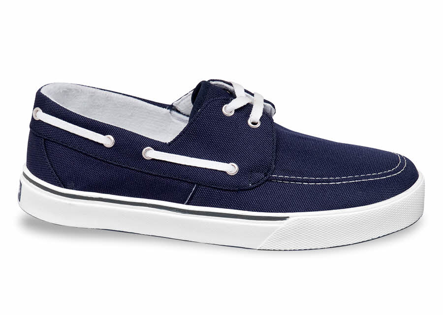 Boat Style Navy Canvas Casual