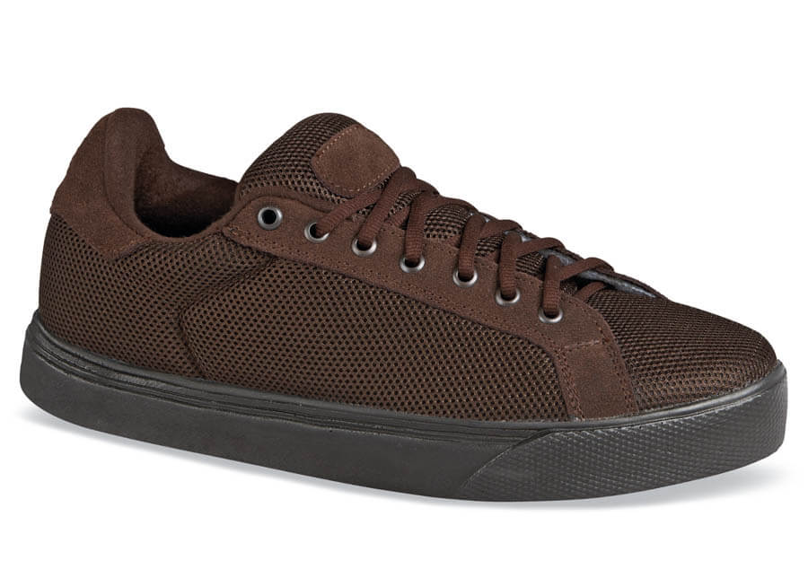 Brown Lace-to-Toe Mesh Sneaker