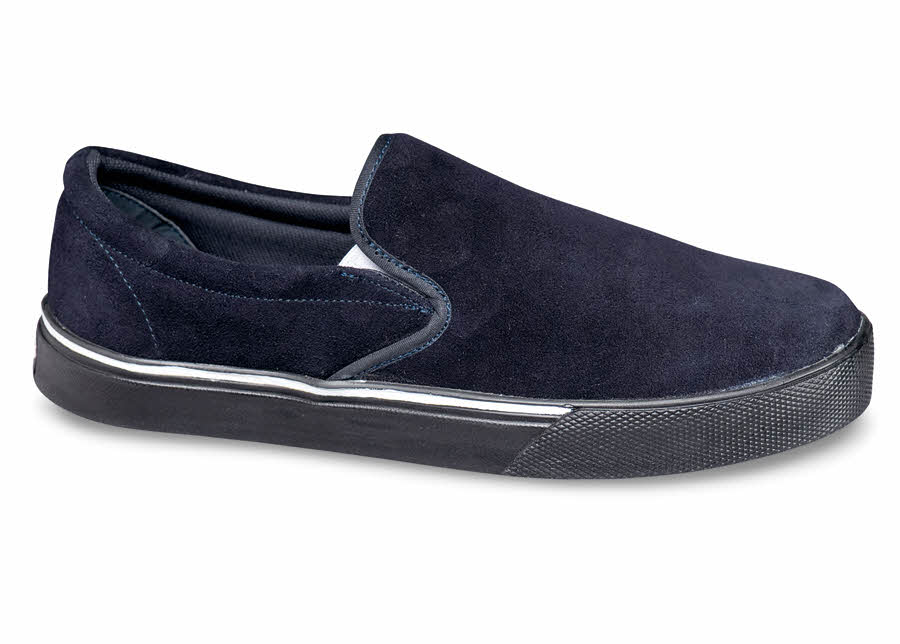Navy Suede Slip-on Sneaker
