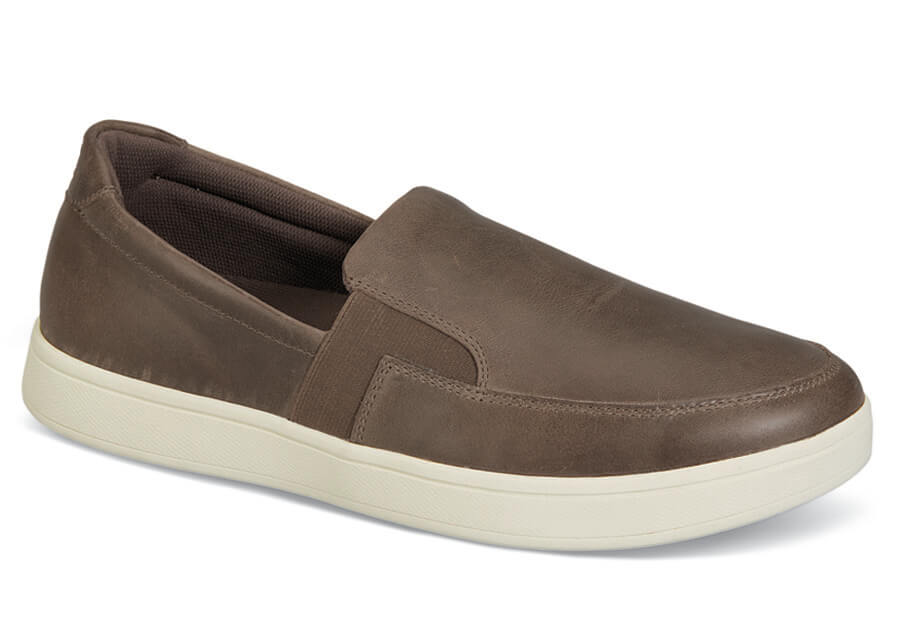 Brown Leather Jump Slip-on