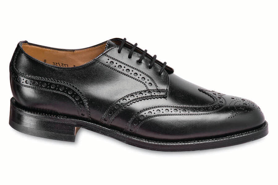 Black Calfskin Wing-Tip Brogue