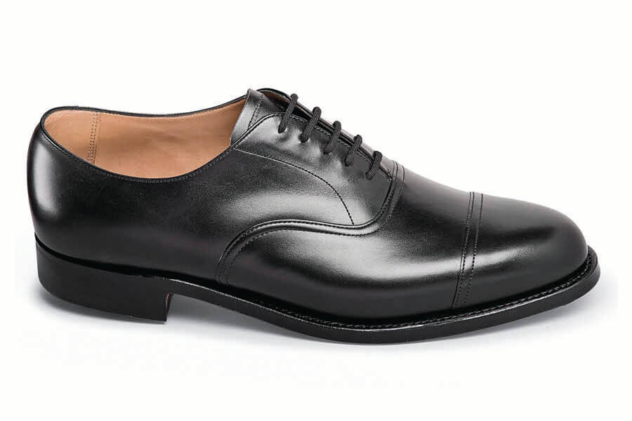 Black Calfskin Cap-Toe Oxford