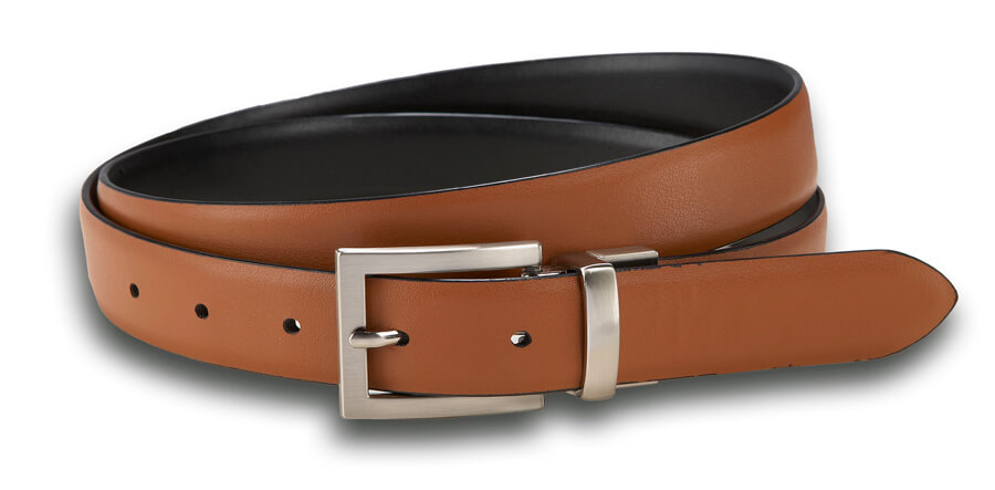 Black/Cognac Reversible Belt
