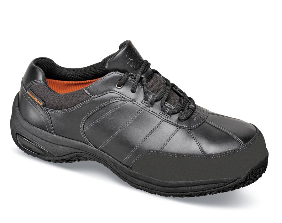 Black Steel-toe Work Oxford