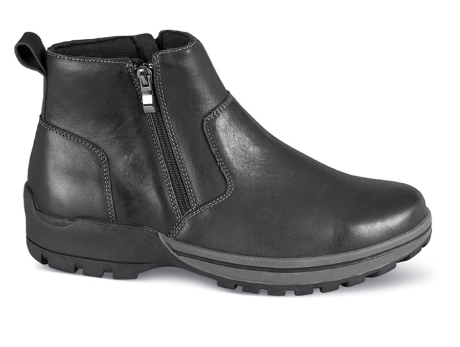 Black Brock Twin Zipper Boot
