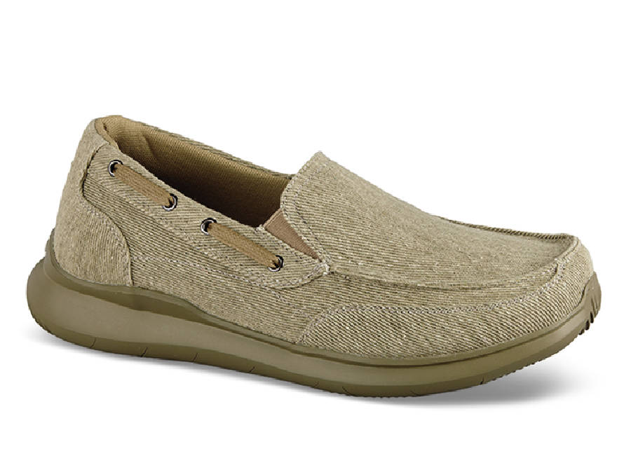 Tan Viasol Canvas Slip-on