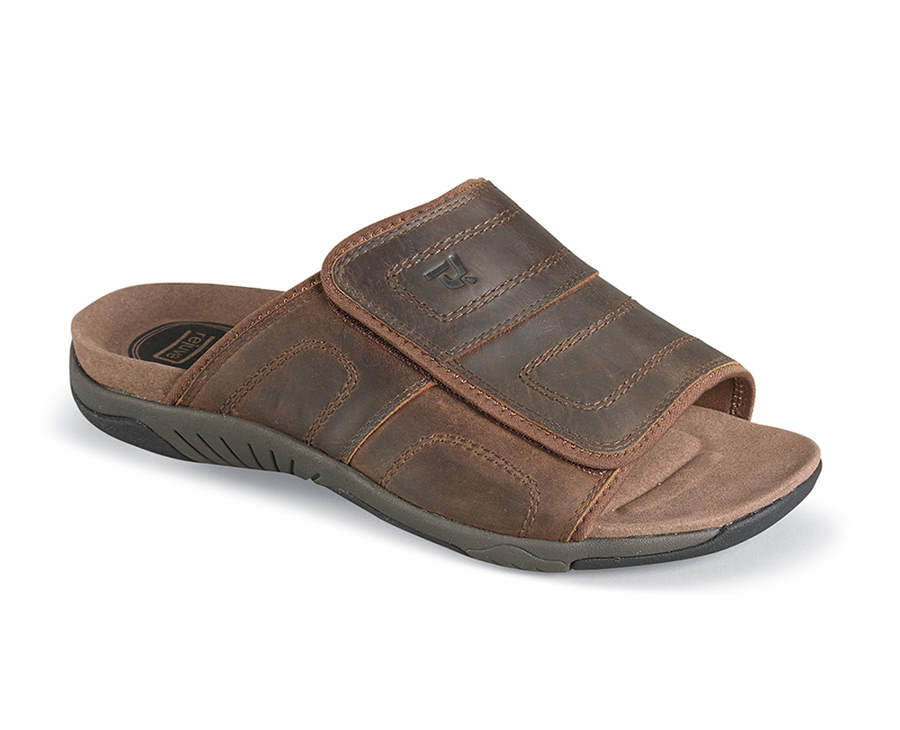 Brown Hatterus Slide Sandal