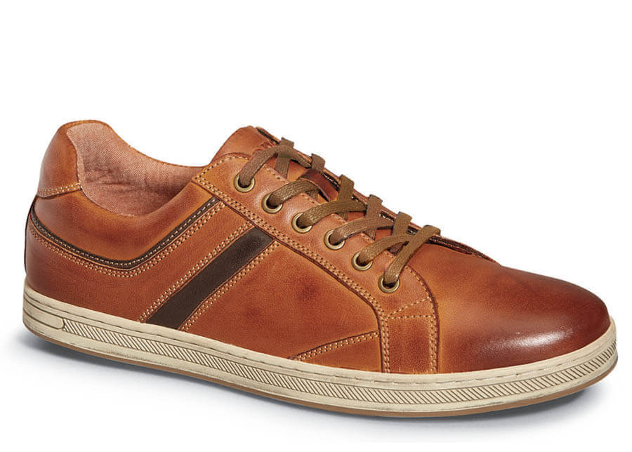 Brown Leather Lucas Sneaker