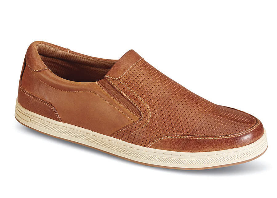 Brown Logan Leather Slip-on