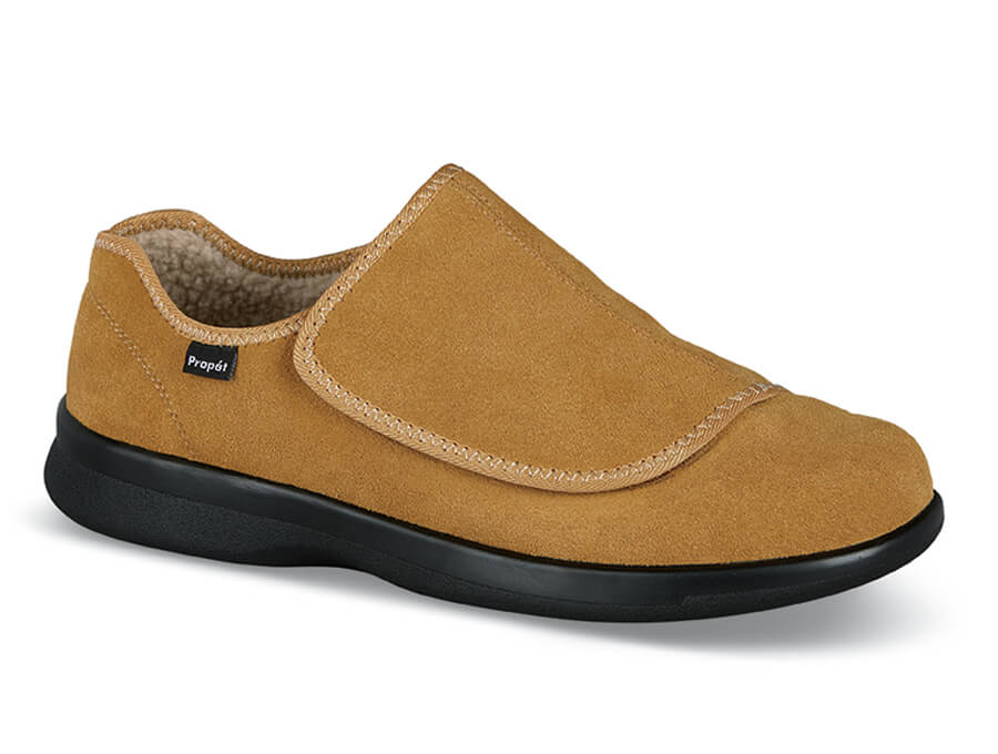 Camel Lined Strap Slipper