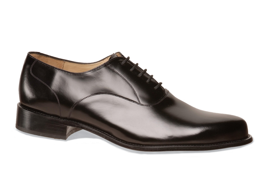Black Plain-Toe Bal Oxford