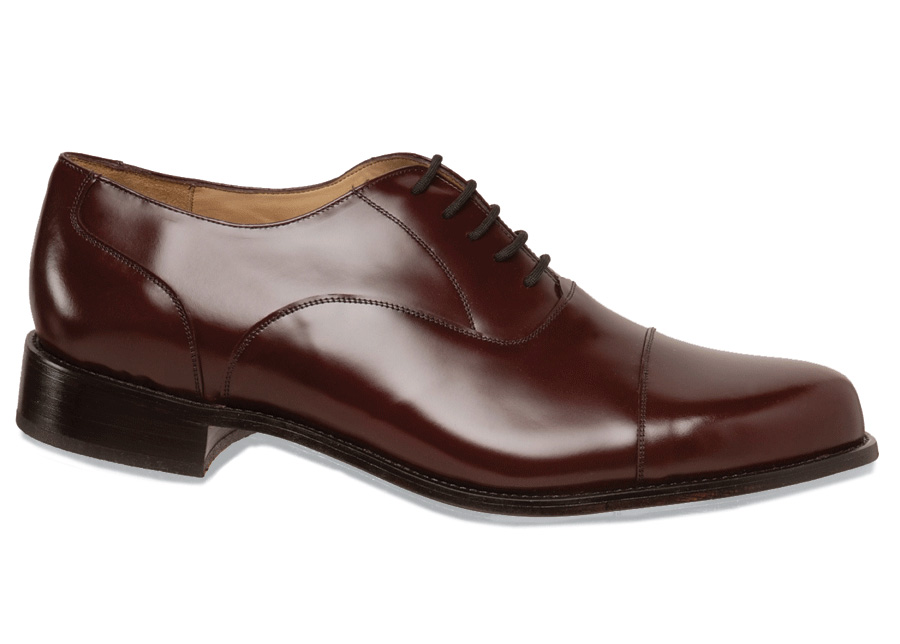 Burgundy Straight Tip Bal Oxford