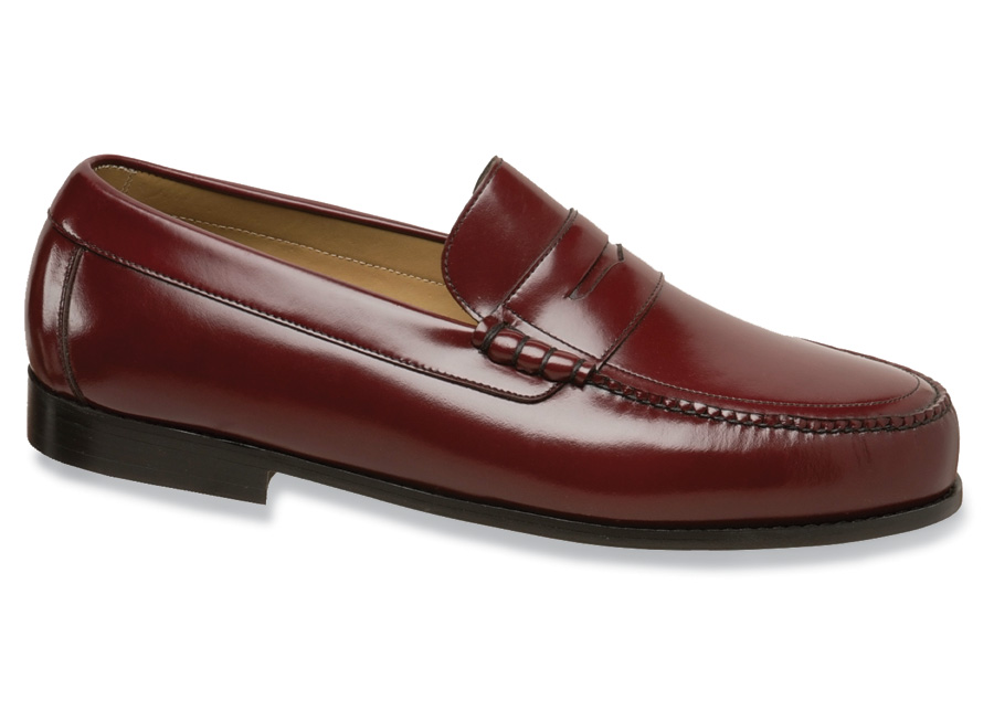 Burgundy Leather Beefroll Loafer
