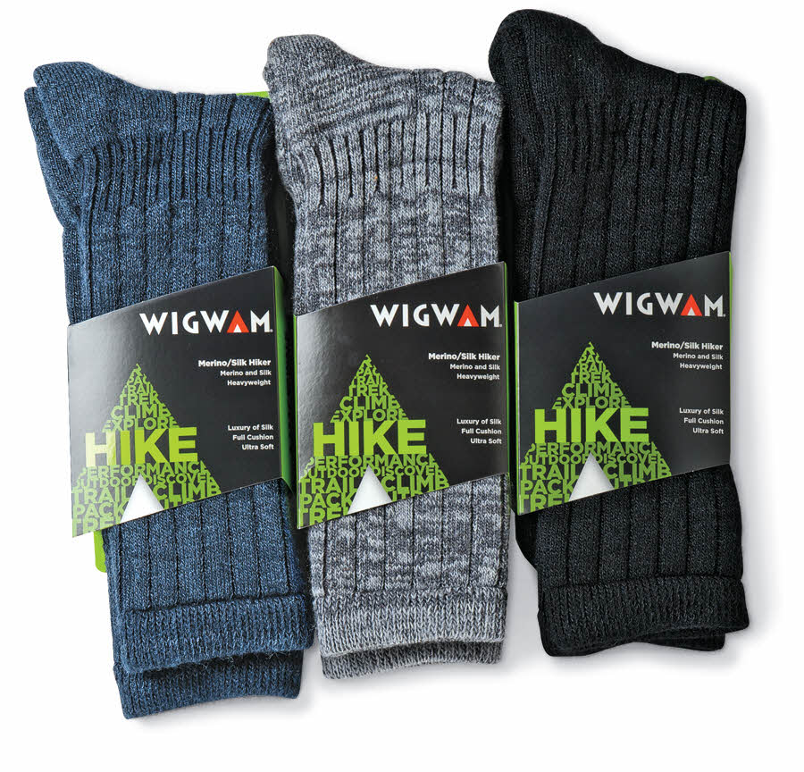 Merino Wool/Silk Hiking Socks