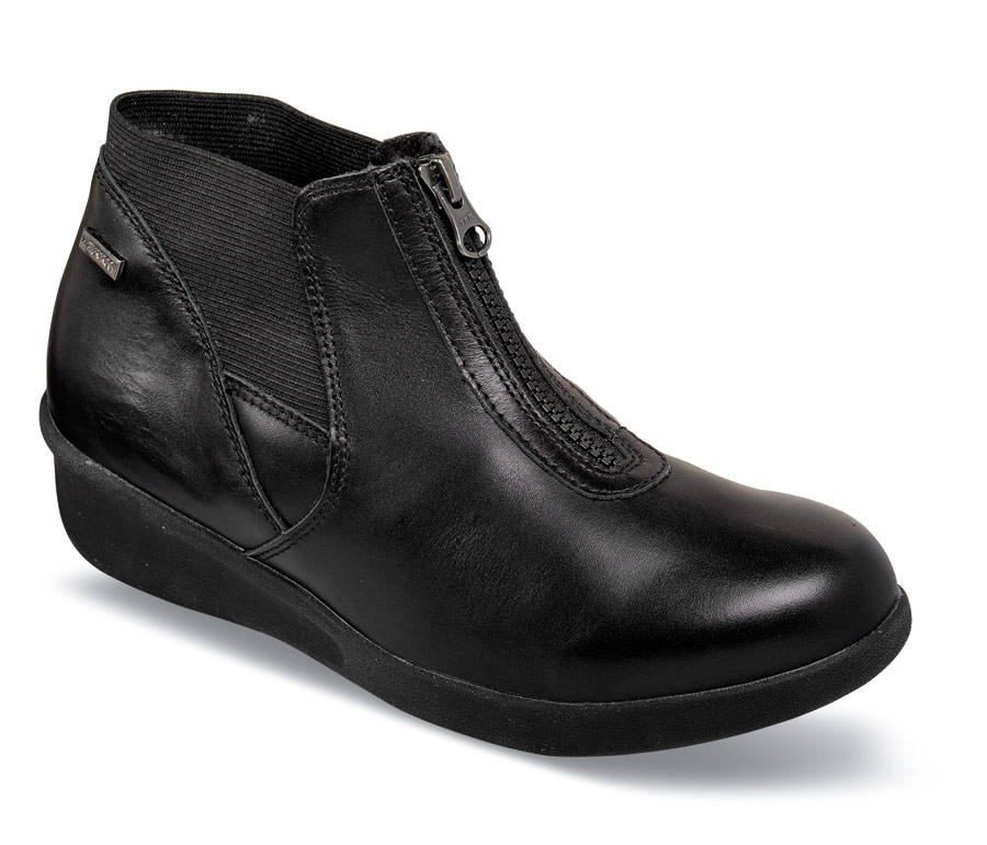Laurel-AR Black Mid-Cut Zip Boot