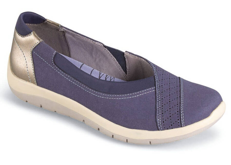 Wembly Envelope Blue Slip On