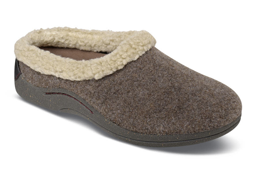 Brandi Brown Lined Slipper