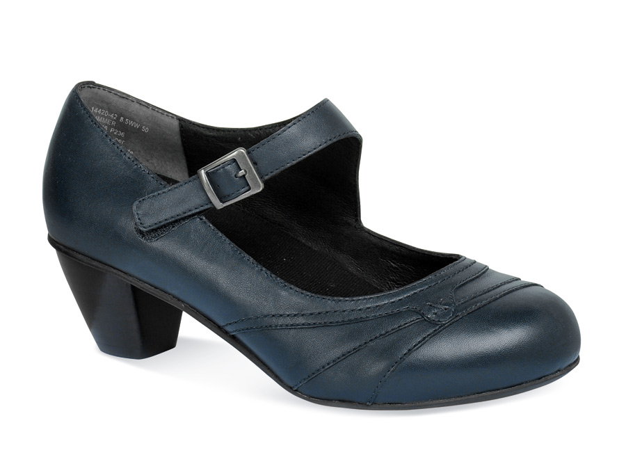 Summer Navy Extra Depth Pump Hitchcock Wide Shoes