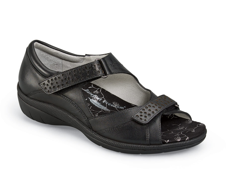 Bay Black Closed Back Sandal