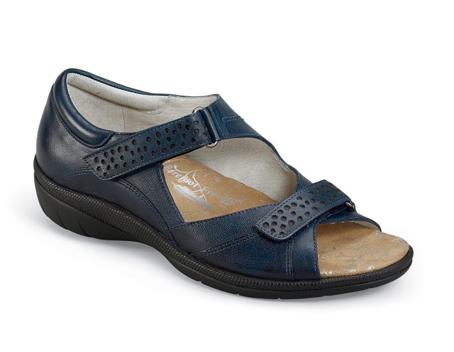 Bay Navy Closed Back Sandal