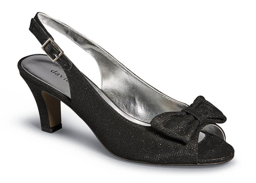 Spirit Black Sling Back Pump