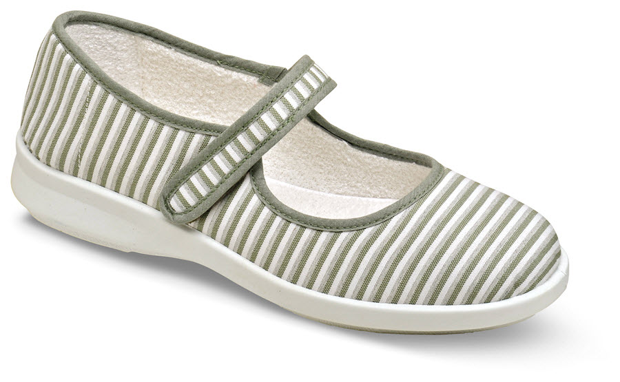 Sadie Khaki Stripe Mary Jane