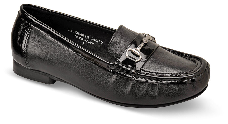 Diana Black Patent Loafer