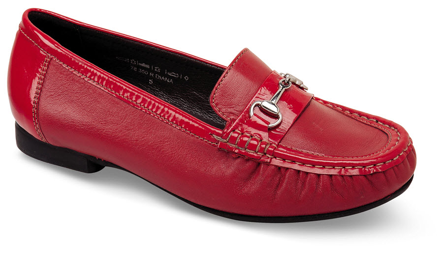 Diana Red Patent Loafer