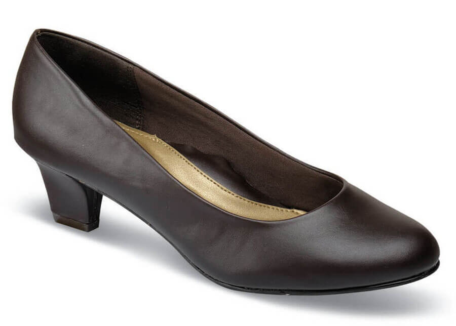 Gail Dark Brown Leather Pump