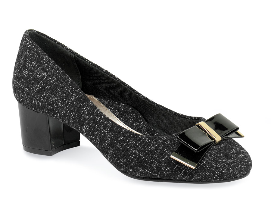 Tacita Black Tweed Pump