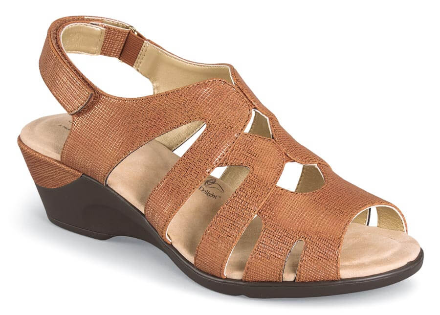 Patsie Tan Wedge Sandal